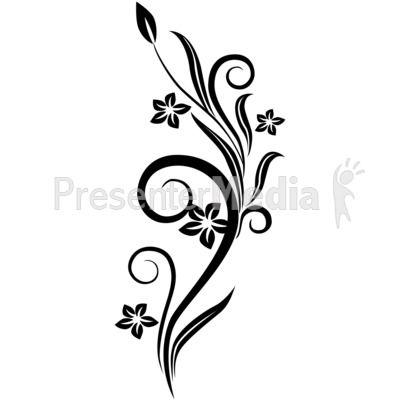 Flower Drawings In Black And White Vines Swirl Black Flowers