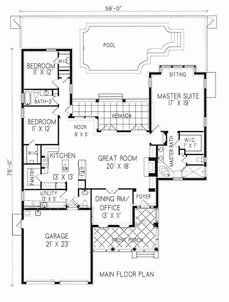 20 Open Concept Floor Plans 2 Bedroom Open Floor Plan