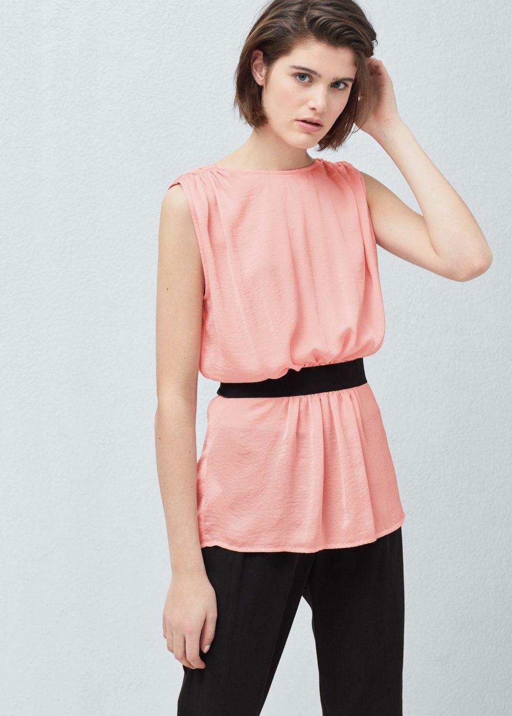 Flowy belt top | Camisa de mujer, Cinturones y Mango