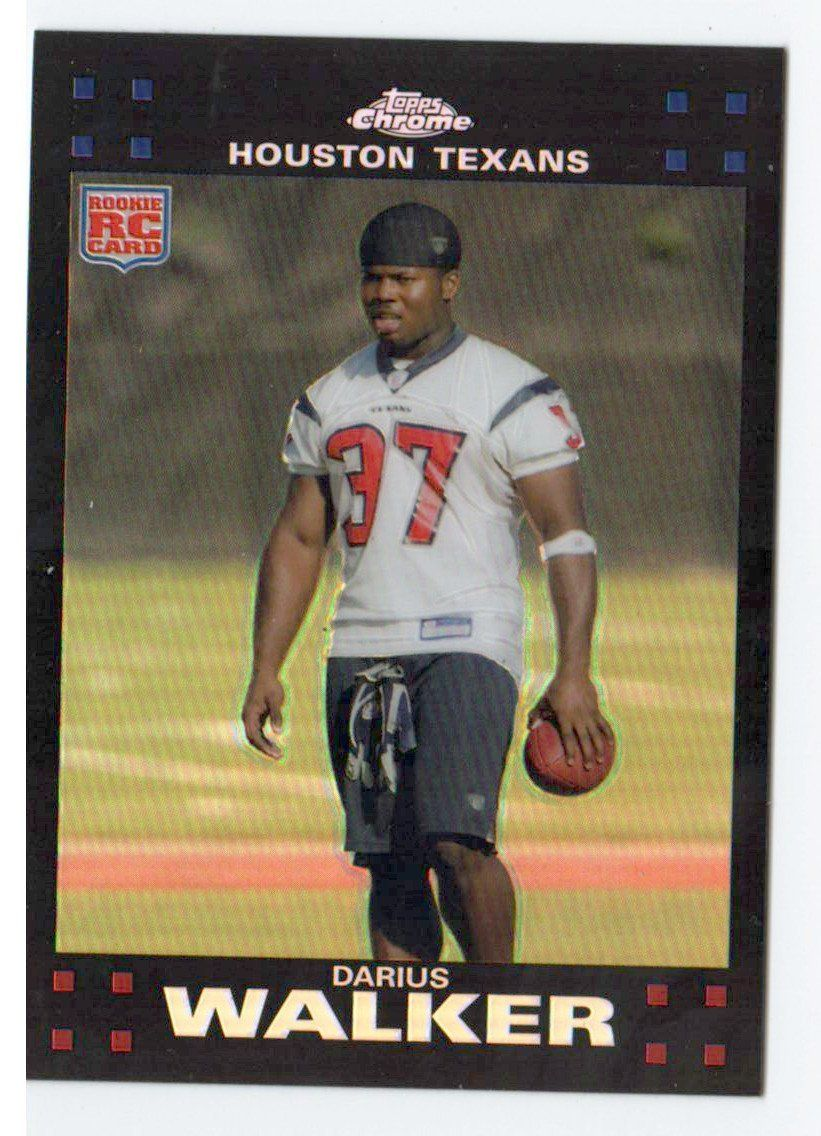 2007 Topps Chrome Darius Walker Refractor Rookie Card Houston Texans