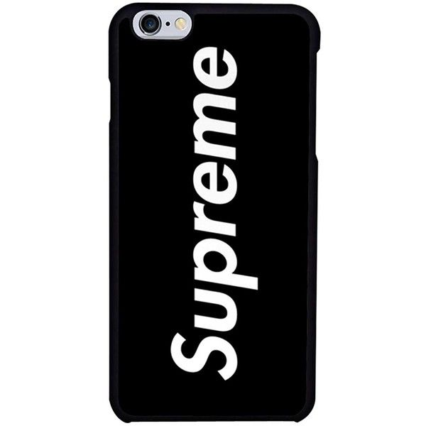 Black Supreme Phone case iPhone 7 Plus (€2,42) ❤ liked on Polyvore featuring accessories, tech accessories, fillers, phones, iphone and phone case