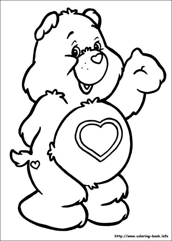 The Care Bears coloring picture | Care Bears | Pinterest | Care ...