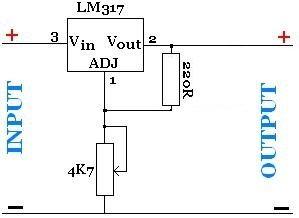 adjustable power supply with lm317 voltage regulator electronics in 2019 voltage regulator. Black Bedroom Furniture Sets. Home Design Ideas