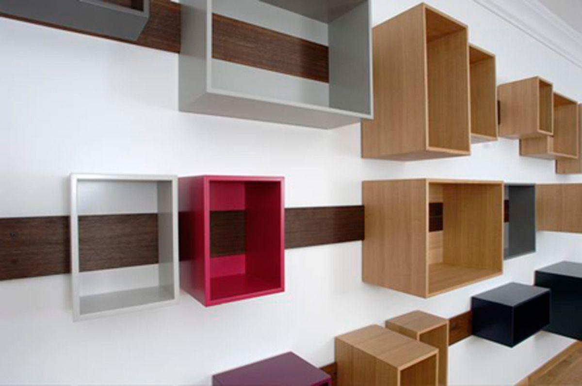 Sliding Shelves By Lutz Hüning. Sliding Shelves, Wooden Wall ...