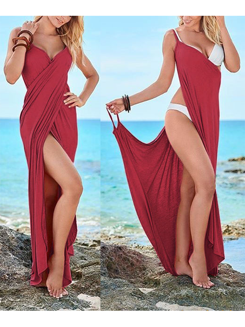 d565641a600 Buy Sundress Summer Dresses For Women at JustFashionNow. Online Shopping Justfashionnow  Sundress Casual Dresses Beach Asymmetrical V Neck Spaghetti Sexy ...