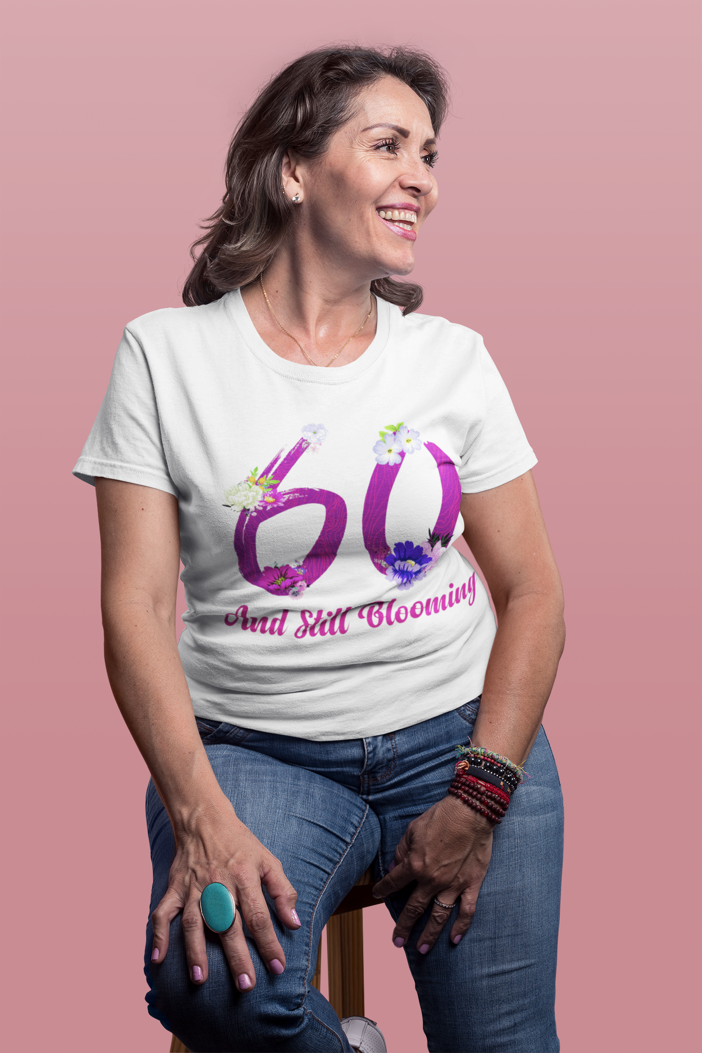 a9c0243d Still Blooming 60th Birthday Flowers Women's T-Shirt in 2019 | 60th ...