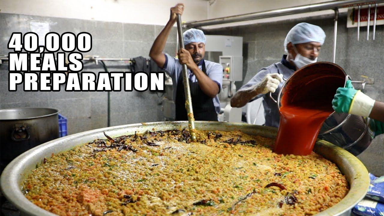 Amazing Food Preparation for 40000 People 5 Rs Mid Day