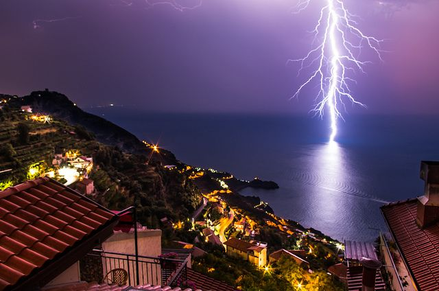 "An ""electrifying"" photo captured on the Amalfi Coast, one of our favorite seaside destinations with Inside Europe. #Amalfi# coast! #Italia #Italy #IlikeItaly #UNESCO"