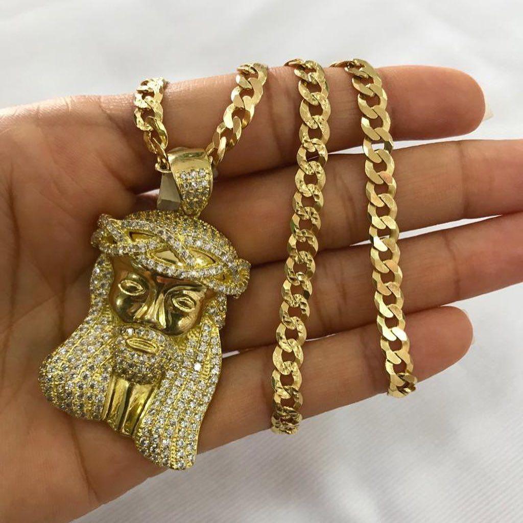 Cadenas de plata bañadas en oro   @karisaccesoriosrd 👈 síguenos