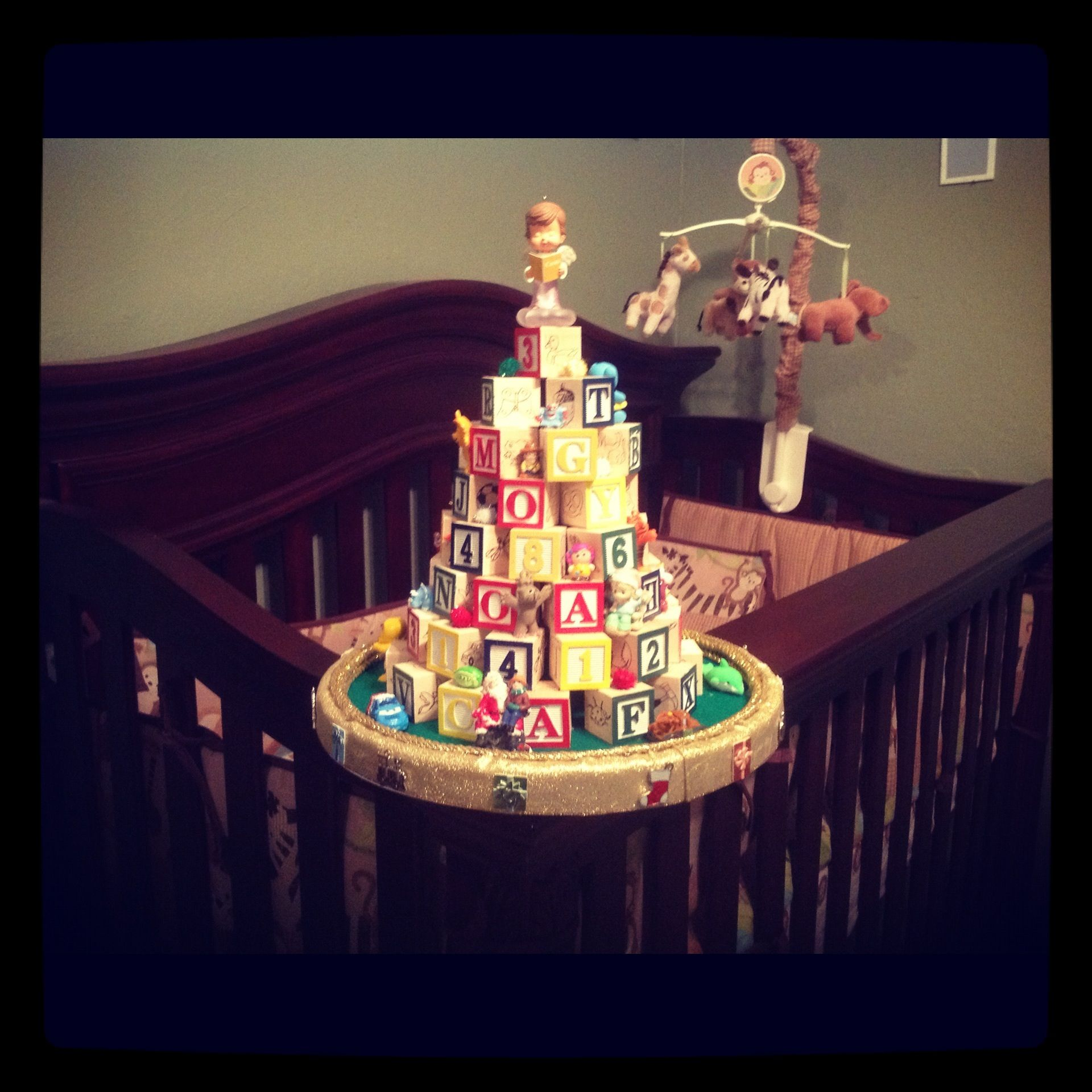 This Is An Alphabet Christmas Tree That Was Hand Made By