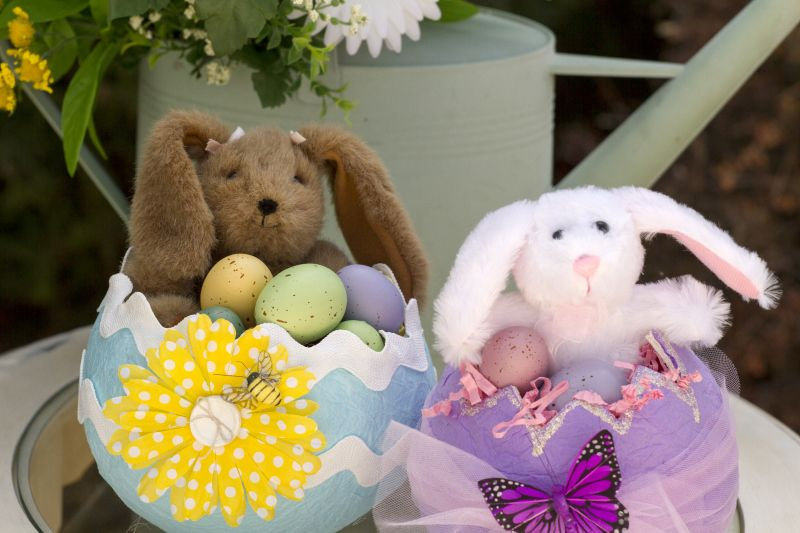 Tissue Easter Egg Basket Tutorial