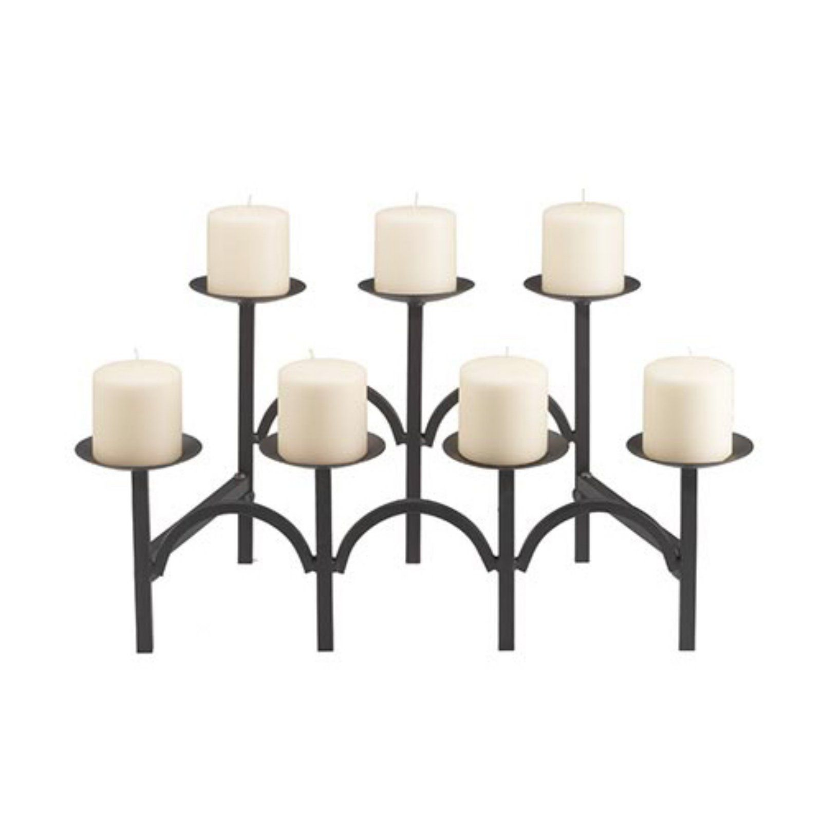 Awesome Minuteman International Two Tier 7 Candle Black Fireplace Interior Design Ideas Gentotryabchikinfo