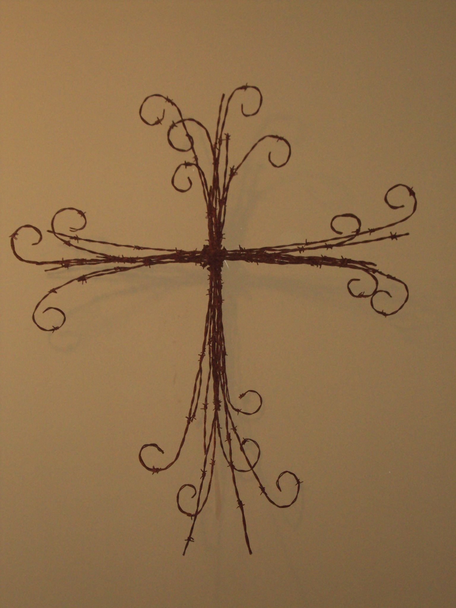 Wire Cross Craft Ideas Center Kenmore 1581320 1325 1336 1347 1946 Sewing Machine Threading Diagram Thicker Barb Crosses Pinterest Rh Com Barbed Art And Crafts To Do With