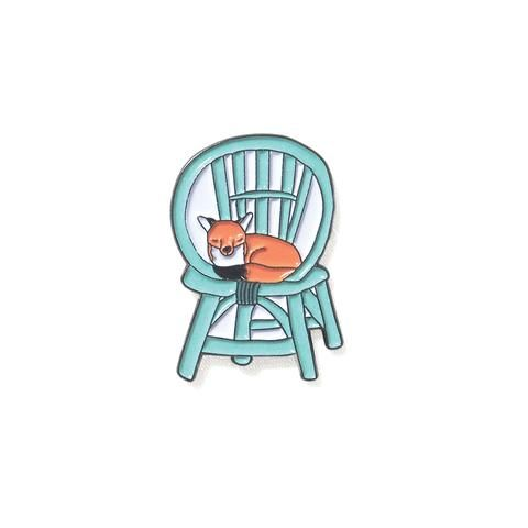 Artist Pin: PINDEMIC x Troops on Print - Fox on Ratten Chair