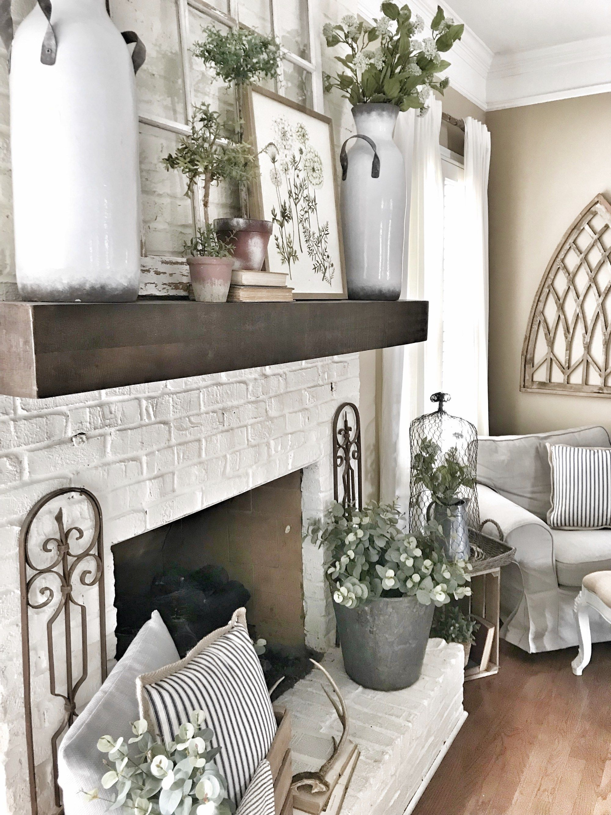 My Pottery Barn Shelf Mantel Hack Farmhouse Decor Living Room