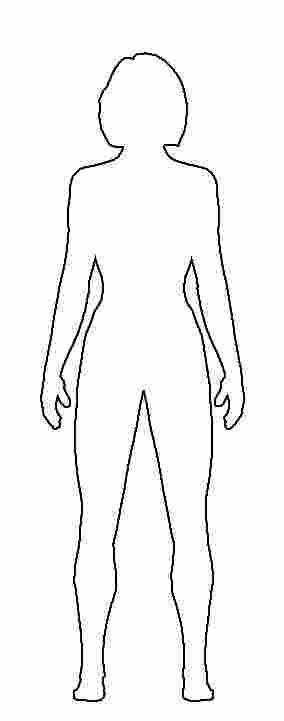 Printable Coloring Pages Girl Body Corpo Humano Silhueta Desenhos