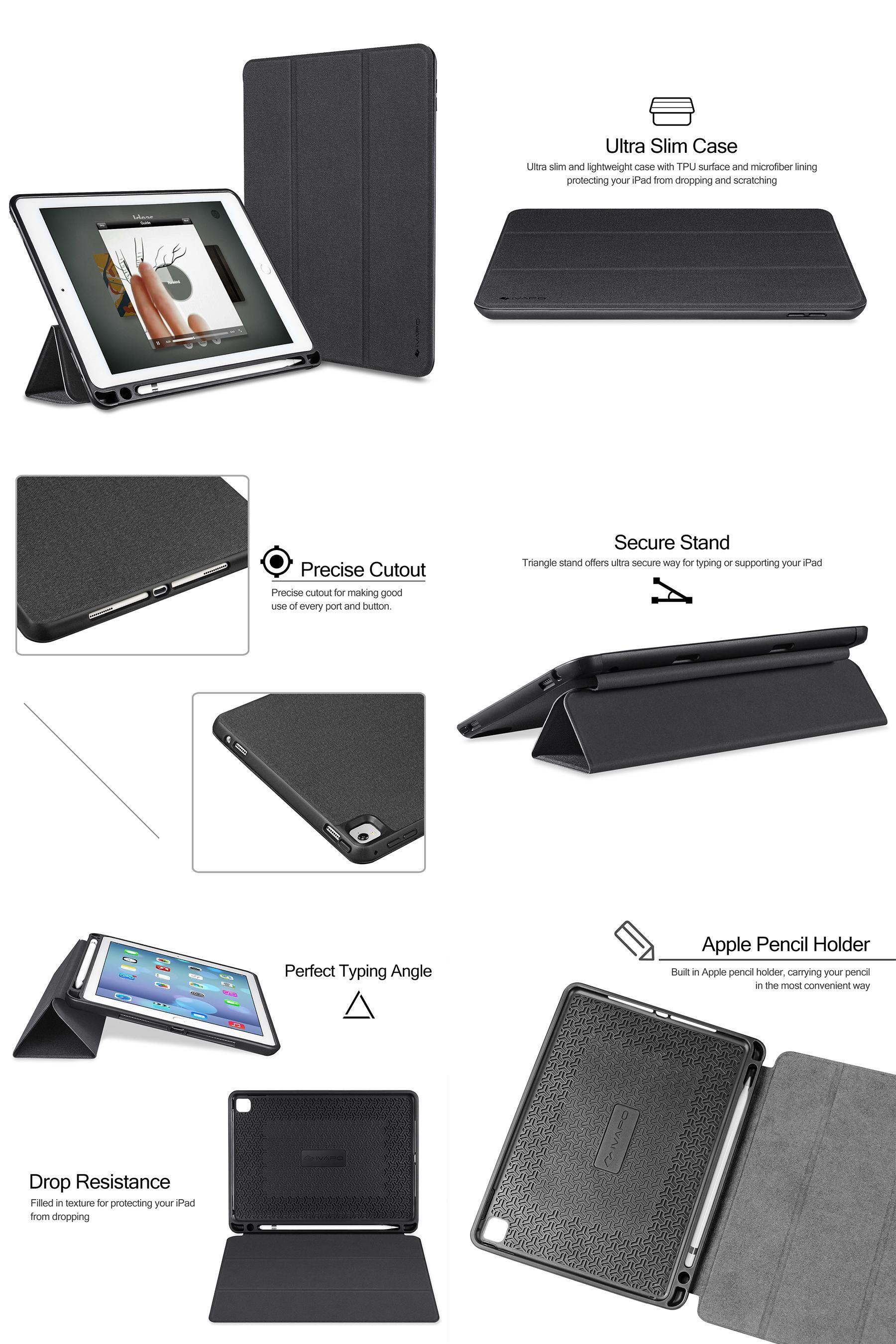 check out 16e81 cb32e Visit to Buy] iVAPO For iPad Pro 9.7 Case Leather PU Slim Flip Folio ...