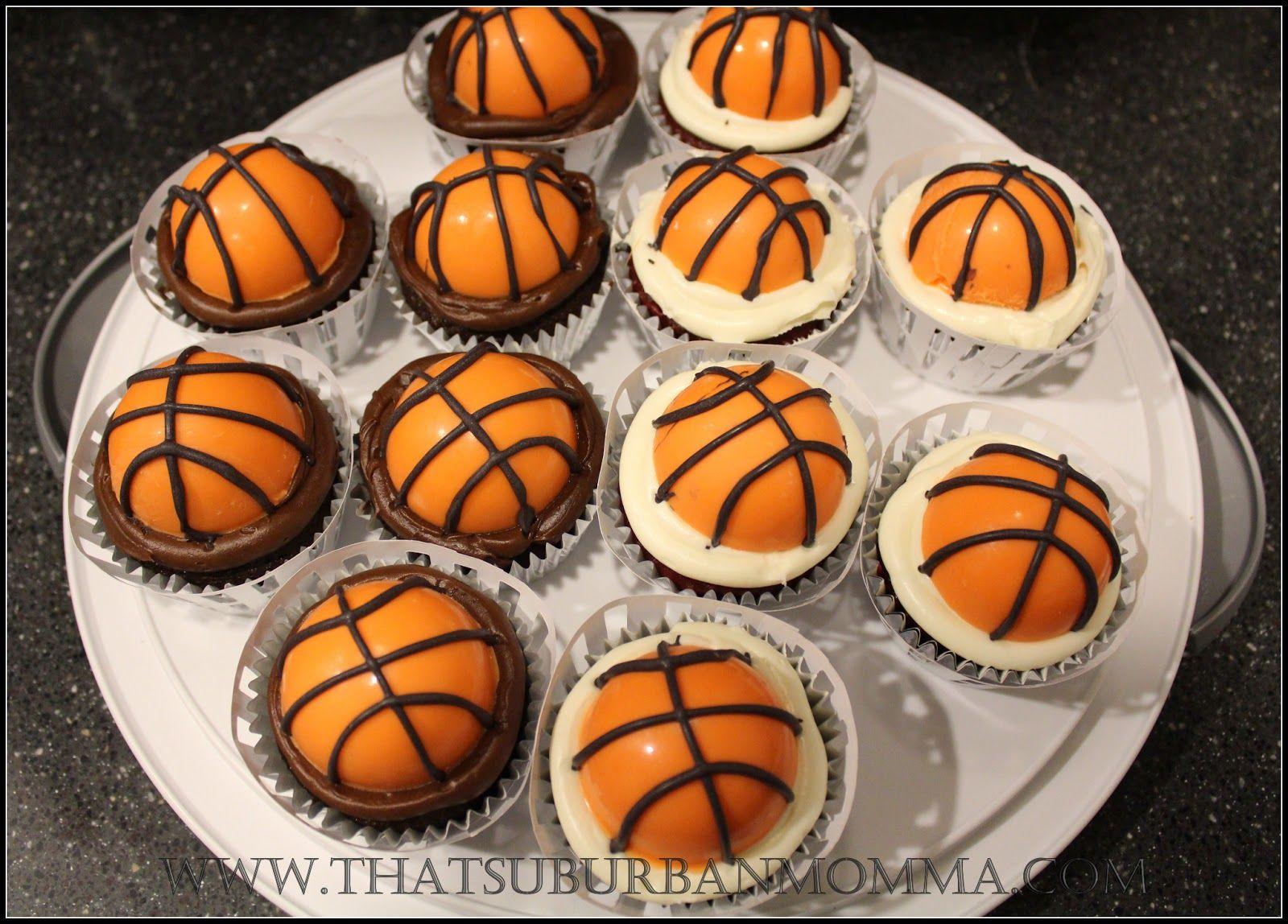 Basketball Cupcakes Tutorial