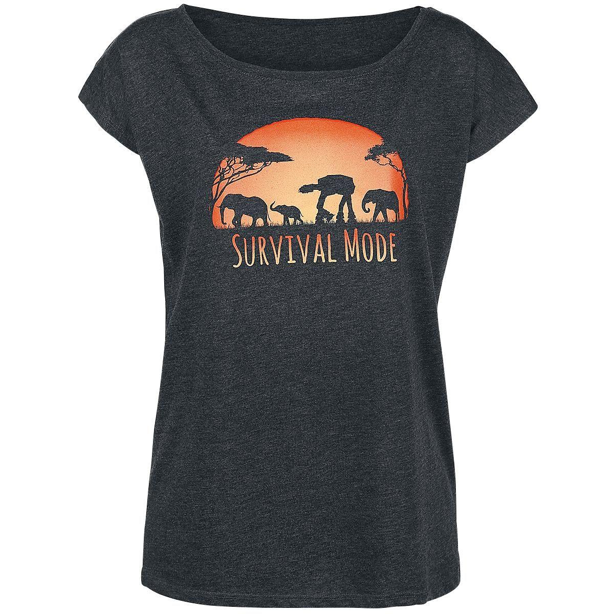 Star Wars - Survival Mode  - naisten T-paita - etupainatus - pyöreä pääntie - normaali mitoitus