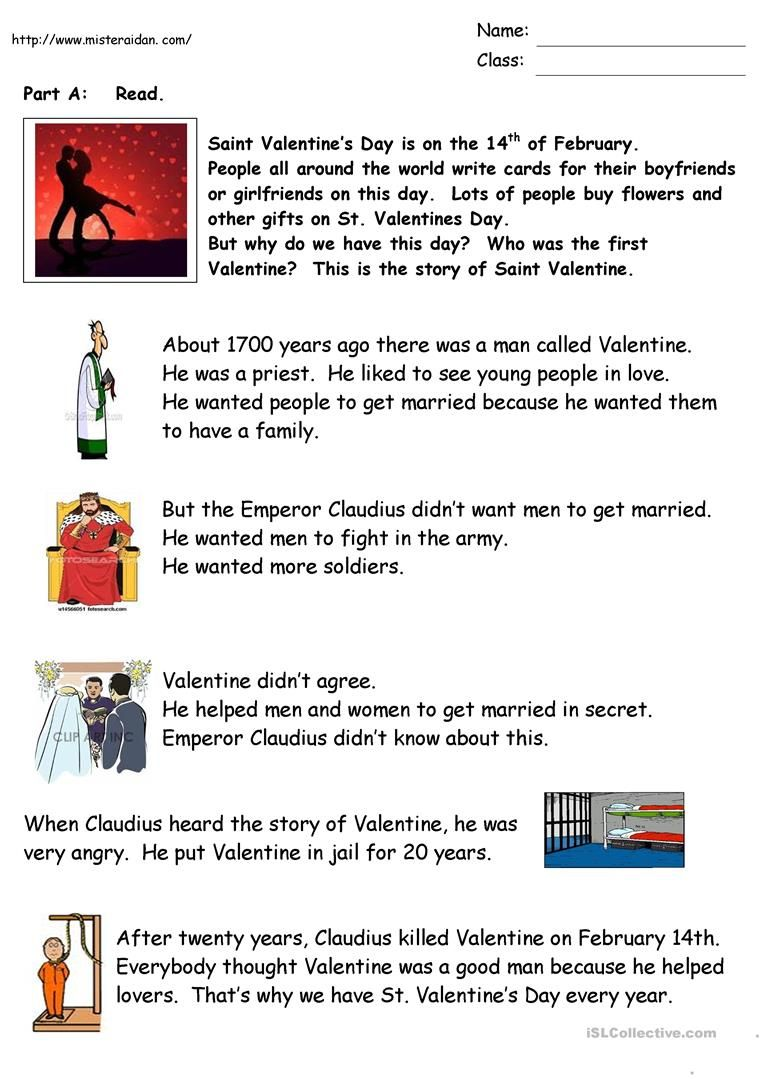 The History Of Valentine S Day Valentines Day History History Worksheets Reading Comprehension