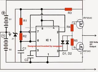 Fazendo um circuito inversor solar sem transformador