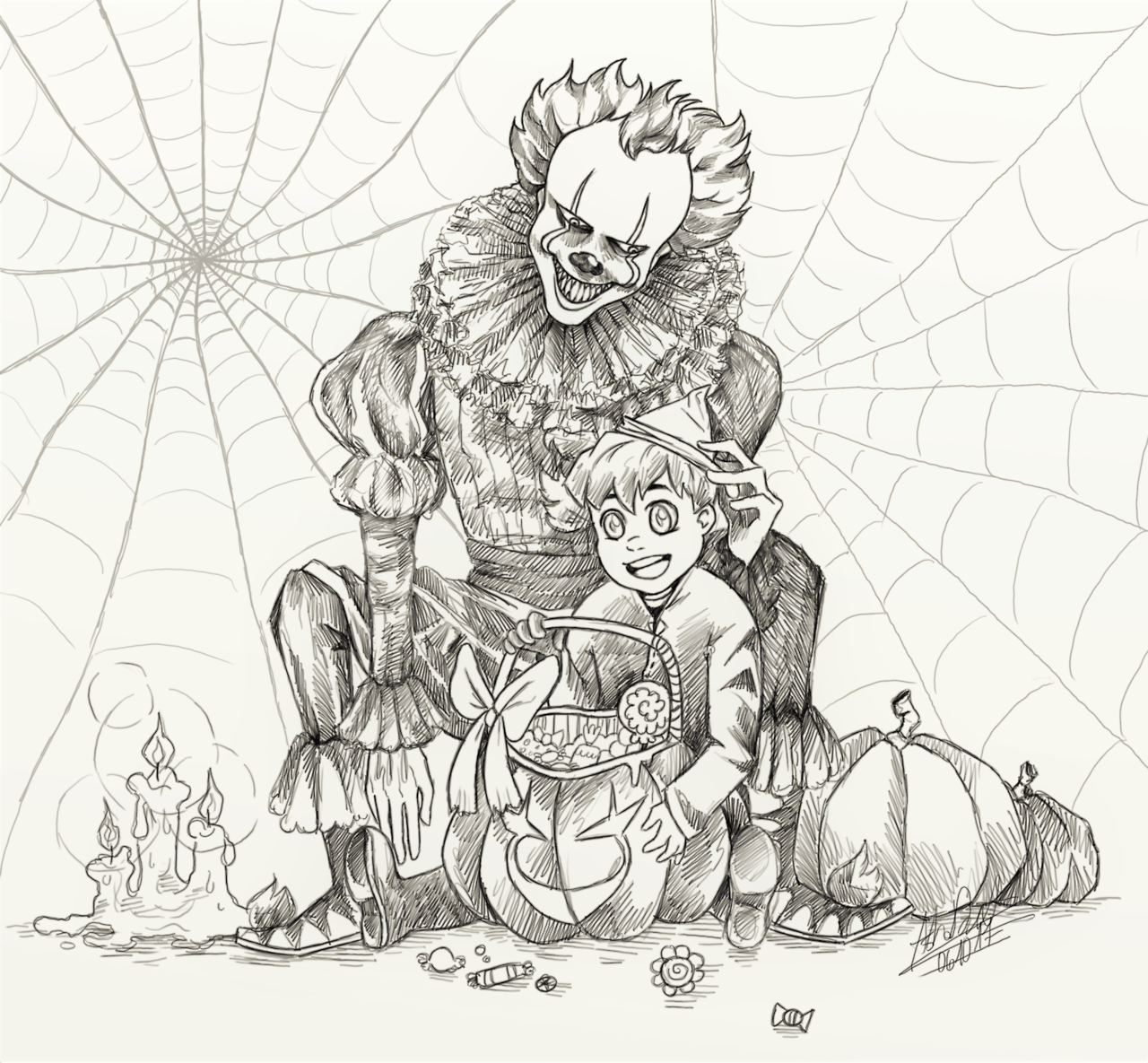 Mrs Doodle Georgie 3 Halloween Coloring Pages Halloween Coloring Scary Coloring Pages