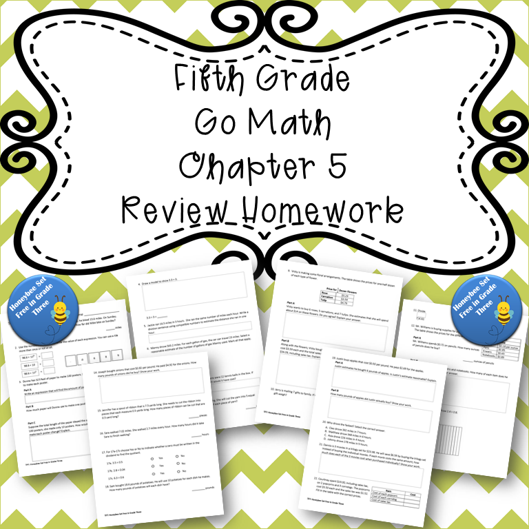 Fifth Grade Go Math Chapter 5 Review Homework in 2020 | Go ...