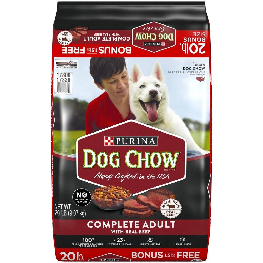 Purina Dog Chow Complete Adult With Real Beef Dry Dog Food 46lbs
