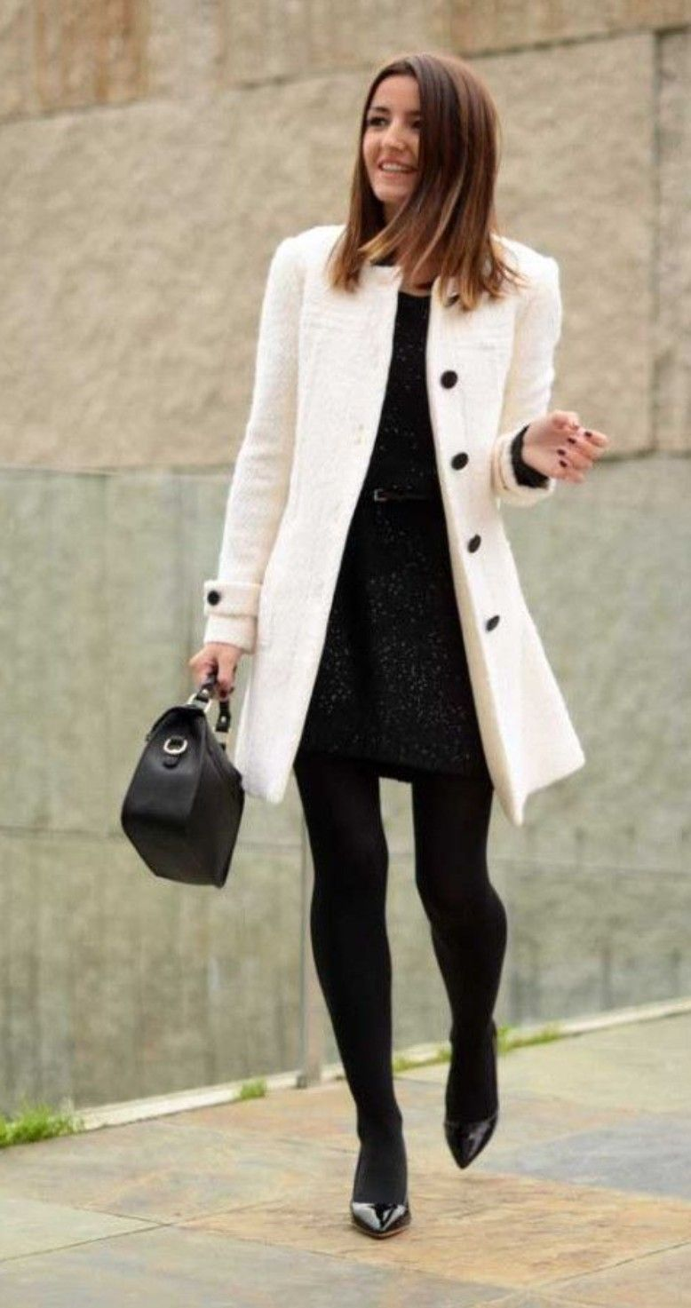 Leggings Rather Than Tights Coat Fashion Coat Outfits Work Outfit