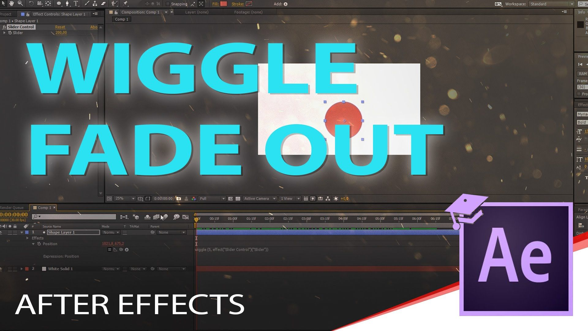 AFTER EFFECTS FADE OUT Wiggle expression - YouTube | Adobe