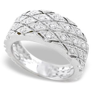A Beautiful Las Diamond Band Set In White Gold