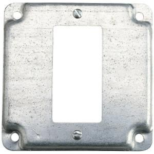 Steel City 1 Gang Square Gfci Box Cover Silve Rs16 10r At The Home Depot Metal Electrical Box Electrical Box Cover Covered Boxes