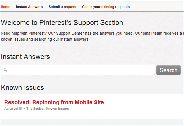 Where can I get help on Pinterest?