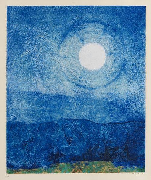 Max Ernst (German, 1891-1976), Ein Mond ist guter Dinge [A moon is in good spirits], 1970. Silkscreen