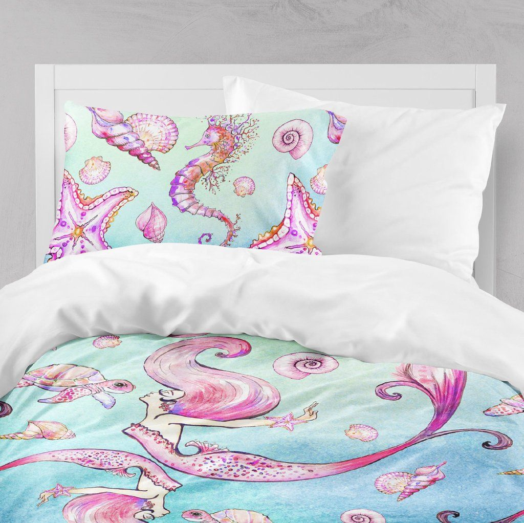 Siren Of The Sea Watercolor Mermaid Crib And Toddler Bedding Collection Soft Blankets Watercolor Mermaid Bedding Collections