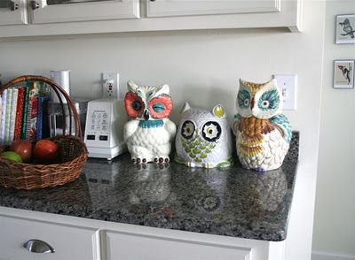 Pins Coming To Life...my New Owl Canisters In Situ