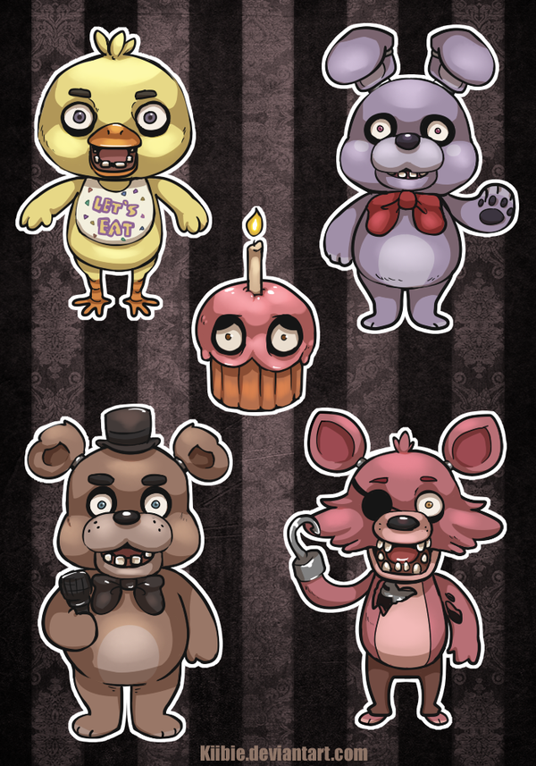 Five Nights At Freddy S Stickers By Kiibie On Deviantart Five Nights At Freddy S Five Night Freddy S