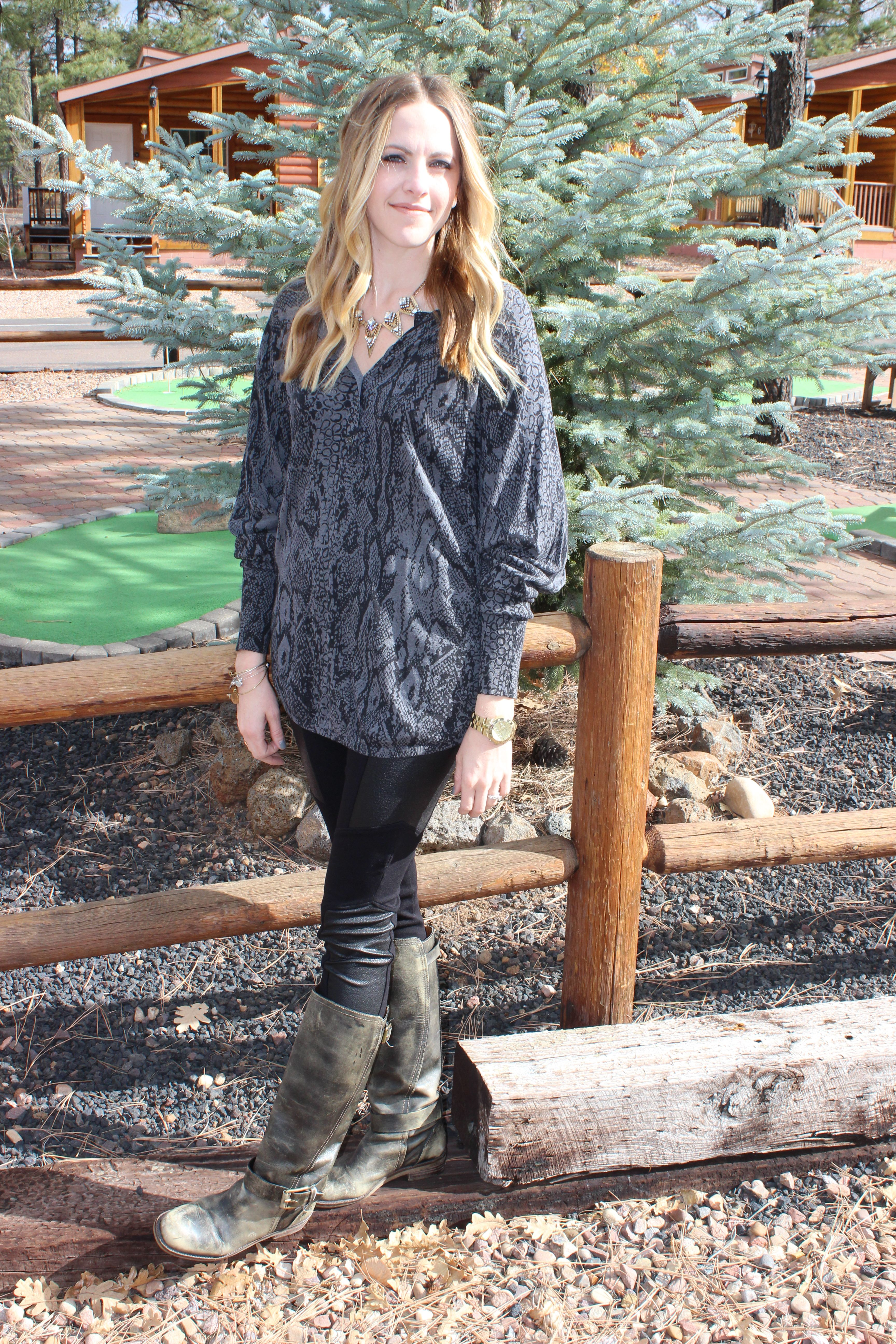 Winter Fashion || BCBG Sweater & Leggings | Outfit Details on the blog... TheFoxyKat.com