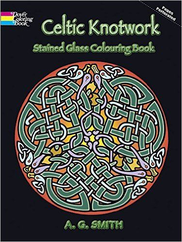 Celtic Knotwork Stained Glass Colouring Book Dover Design Coloring A G Smith 9780486448169 Amazon Books