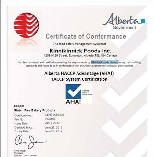 The Gluten Free Insider Food Safety Certificate Food Safety Food Inc