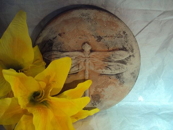 Dragonfly Stepping Stone Garden Plaque by MountainArtCasting