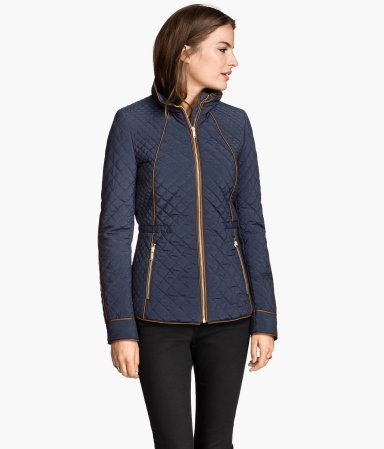 Cinched Waist Quilted Jacket | Burberry | Covet | Pinterest ... : navy blue quilted coat - Adamdwight.com
