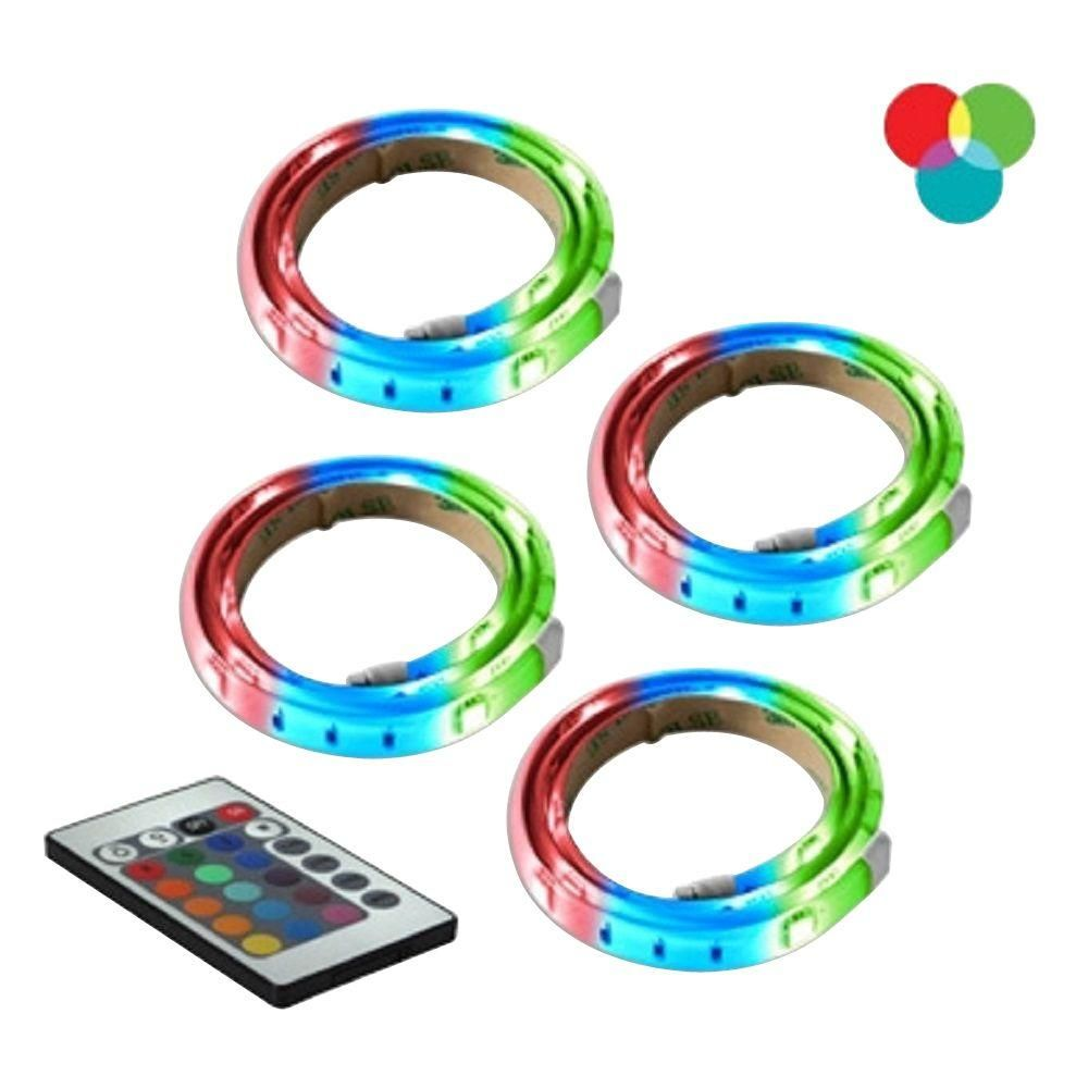 Led Light Strips At Home Depot Bazz Rgb Led Tape Light 4 Pack Cool Stuff Rgb Led