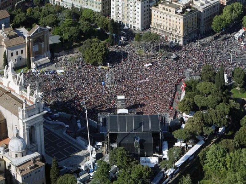 Concerto del 1 maggio - Piazza San Giovanni fotografata dall`alto