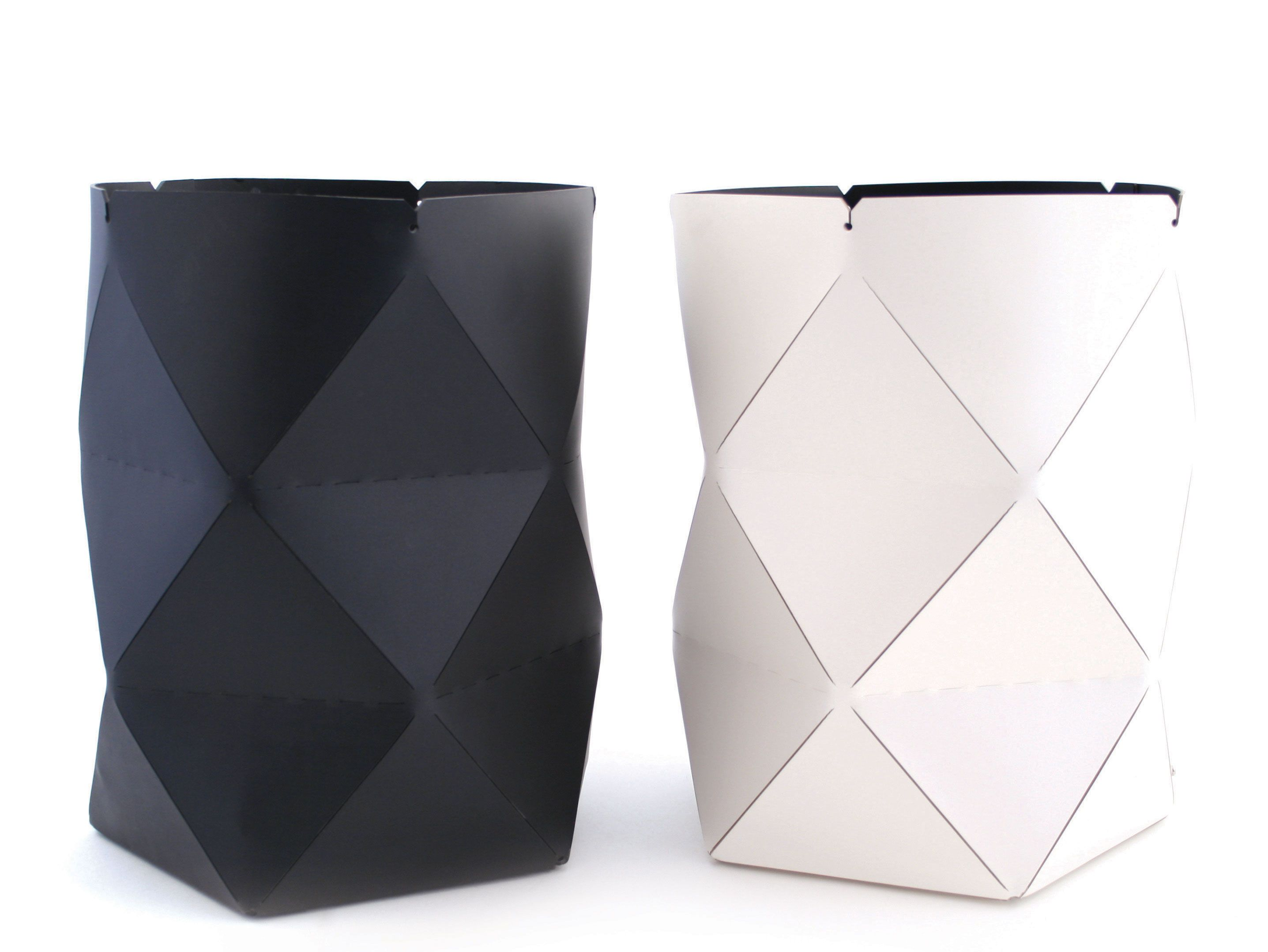 Recycled Origami Leather Containers