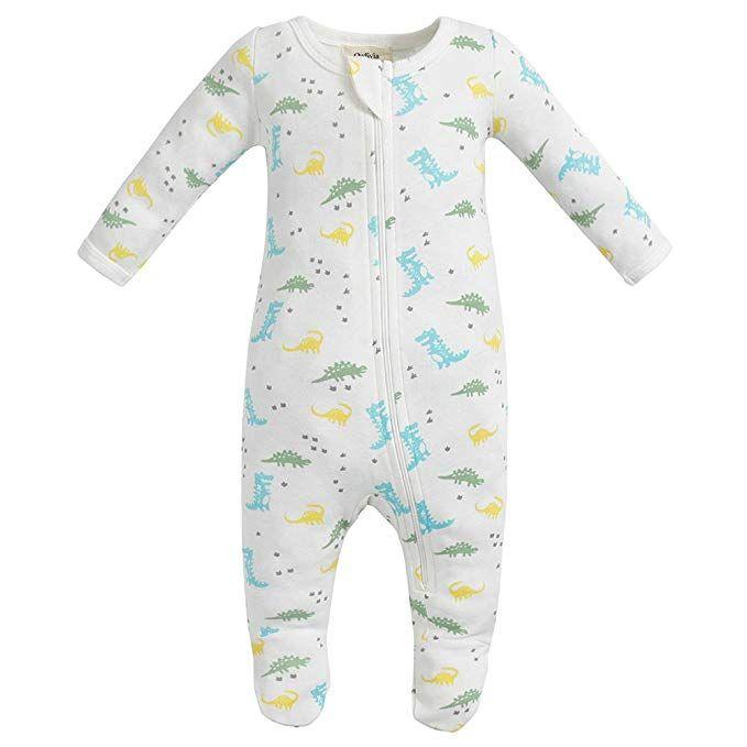 7141fb3ba2 Owlivia Organic Cotton Baby Boy Girl Zip Front Sleep  N Play