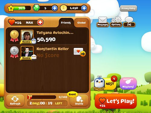 Birzzle Fever Main Menu: screenshots, UI
