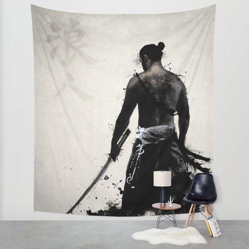 Ronin Wall Tapestry by Nicklas Gustafsson | Society6 #samurai #ronin #warrior