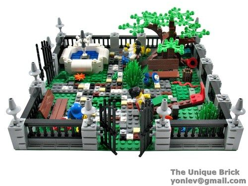 Lego Custom Garden Park PDF Instructions Manual City Town Hall Modular | eBay