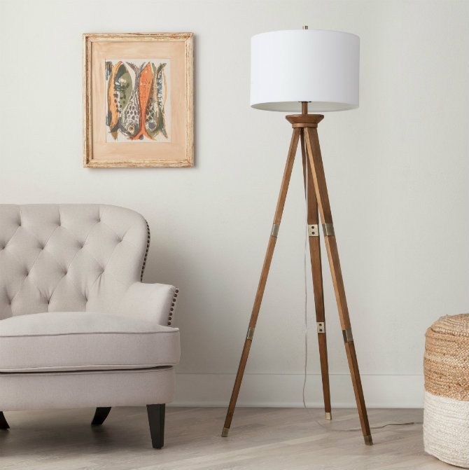 Wooden Floor Lamps For A Mid Century Modern Home Design Tripod